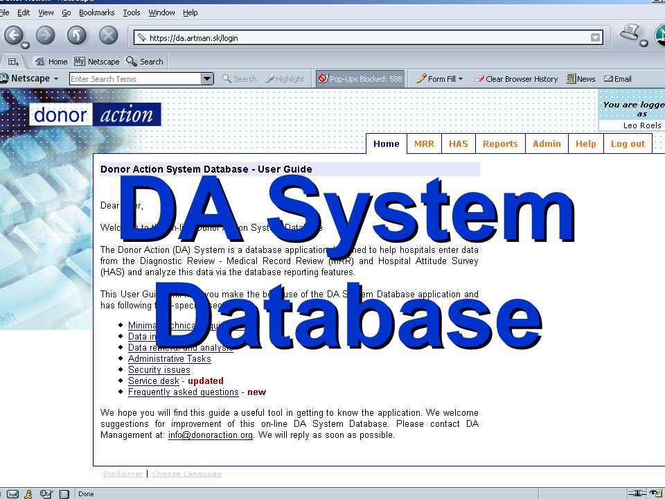 DA System Database Donor Action 2008 35