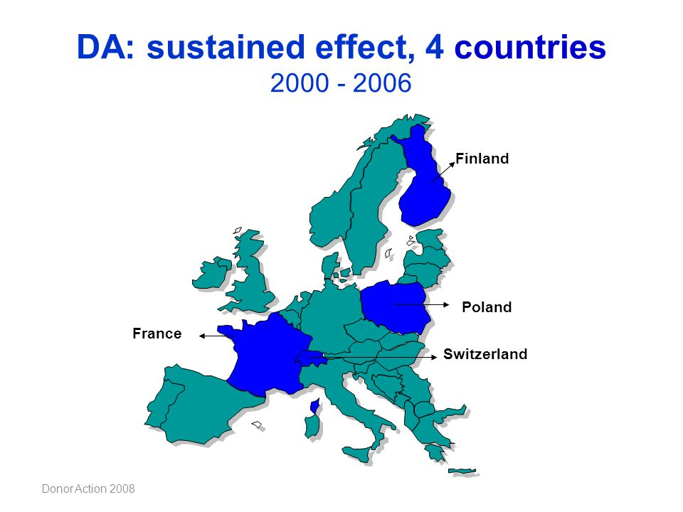 DA: sustained effect, 4 countries 2000 - 2006