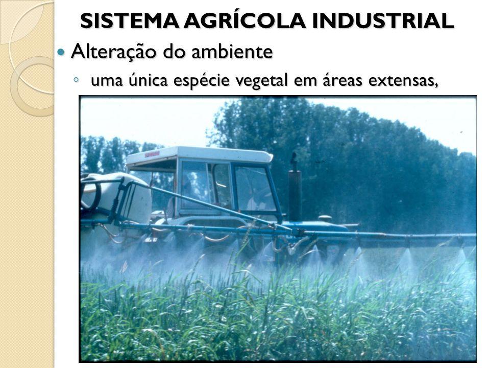 SISTEMA AGRÍCOLA INDUSTRIAL Alteração do ambiente