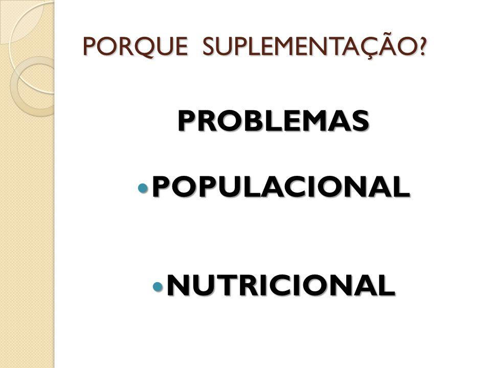 PROBLEMAS POPULACIONAL NUTRICIONAL