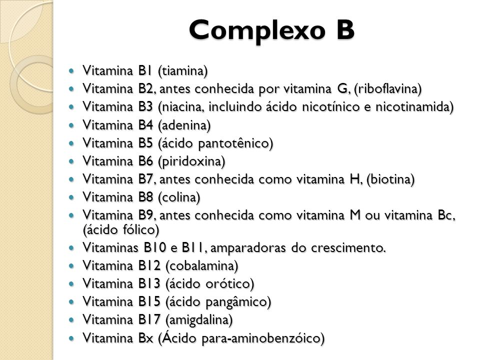 Complexo B Vitamina B1 (tiamina)