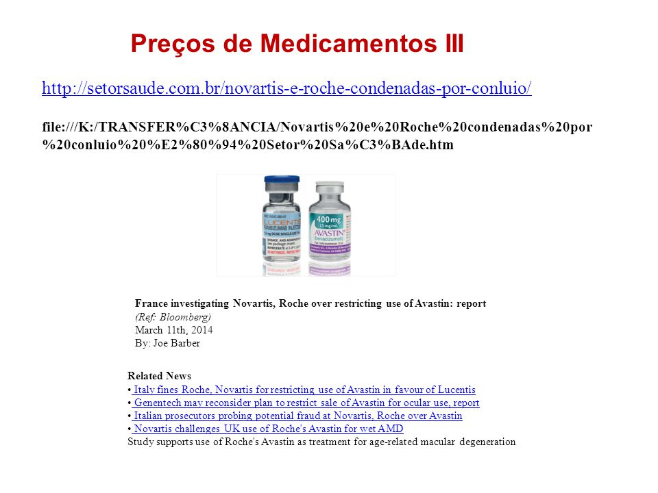 Preços de Medicamentos III