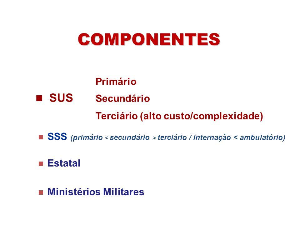 COMPONENTES Terciário (alto custo/complexidade) Primário