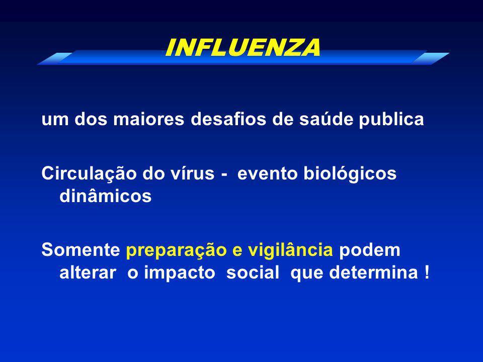 INFLUENZA um dos maiores desafios de saúde publica