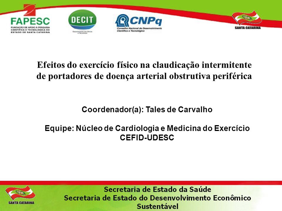 Efeitos do exercício físico na claudicação intermitente de portadores de doença arterial obstrutiva periférica