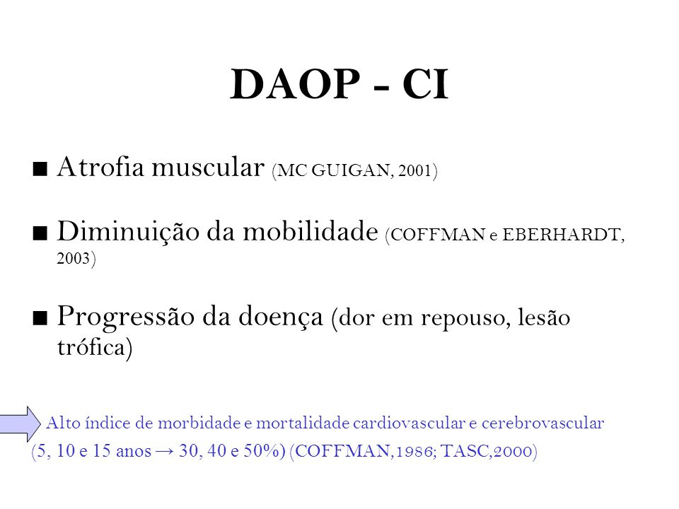 DAOP - CI Atrofia muscular (MC GUIGAN, 2001)