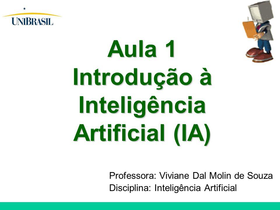 Aula 1 Introdução à Inteligência Artificial (IA)