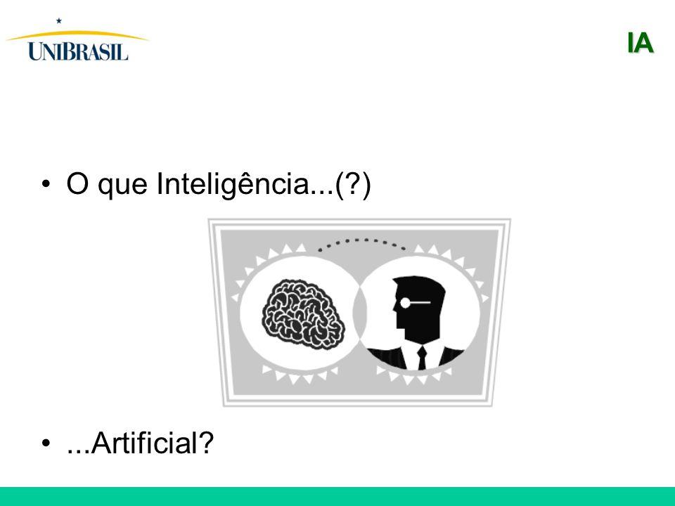 IA O que Inteligência...( ) ...Artificial