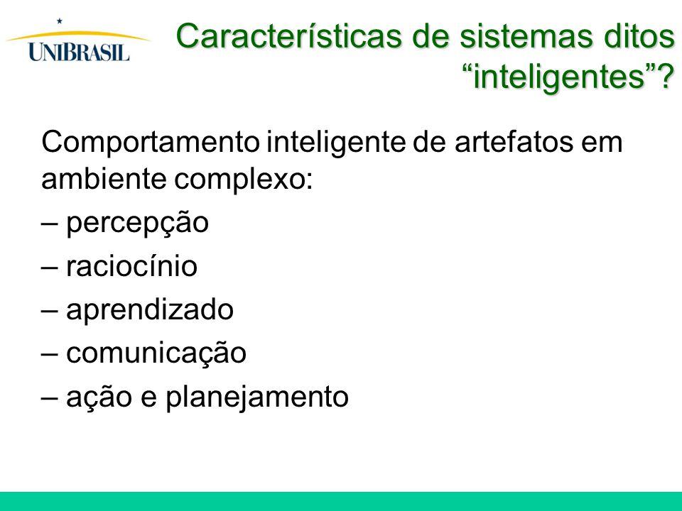 Características de sistemas ditos inteligentes