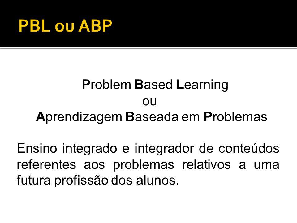 PBL ou ABP Problem Based Learning ou Aprendizagem Baseada em Problemas