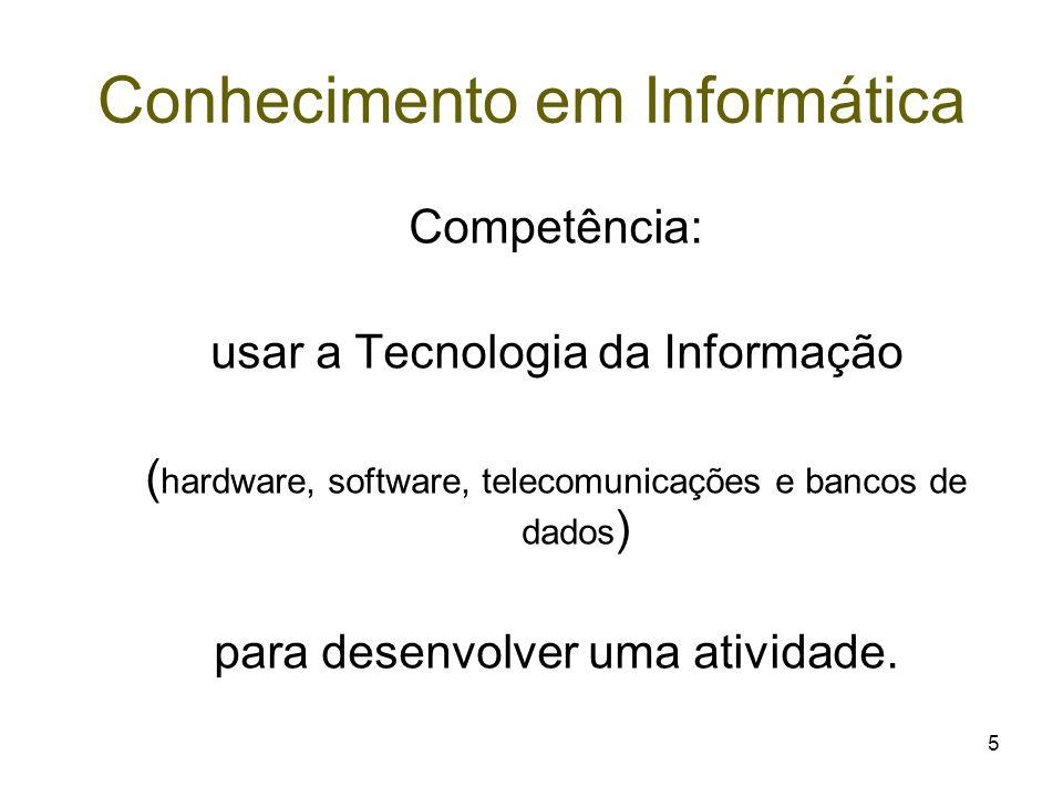 Conhecimento em Informática