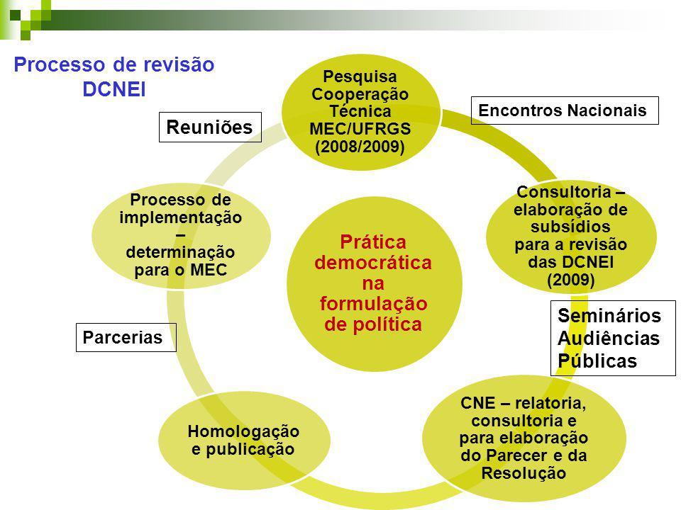 Processo de revisão DCNEI