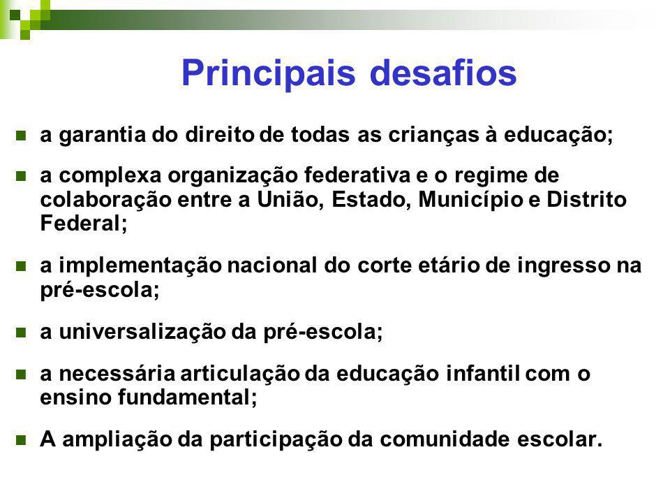 Principais desafios a garantia do direito de todas as crianças à educação;