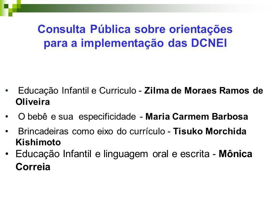 Consulta Pública sobre orientações para a implementação das DCNEI