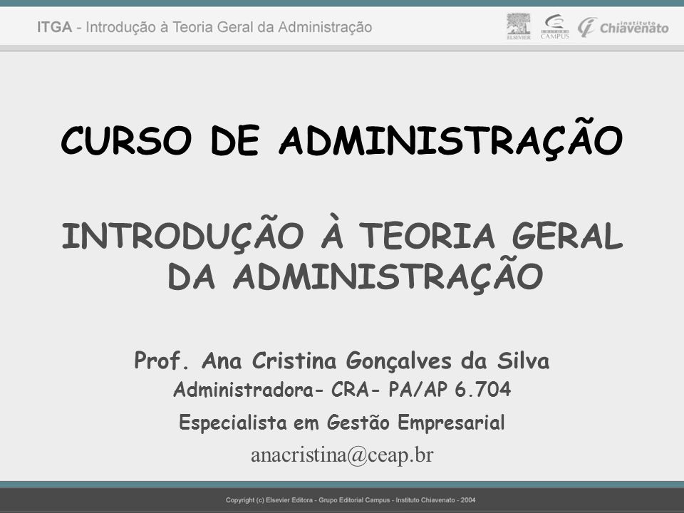CURSO DE ADMINISTRAÇÃO