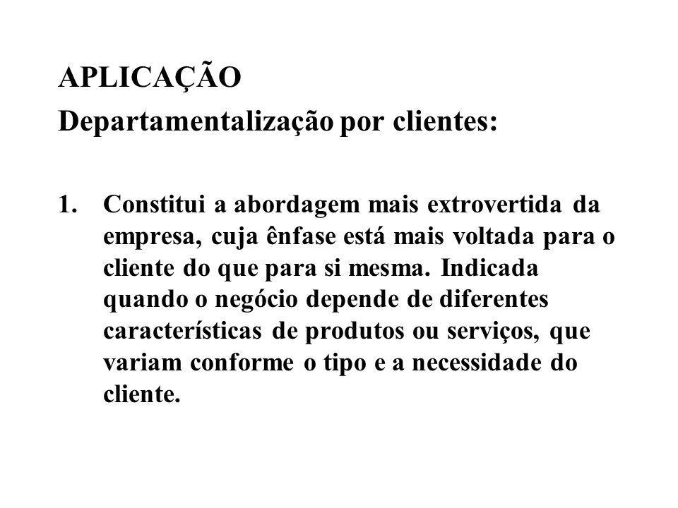 Departamentalização por clientes: