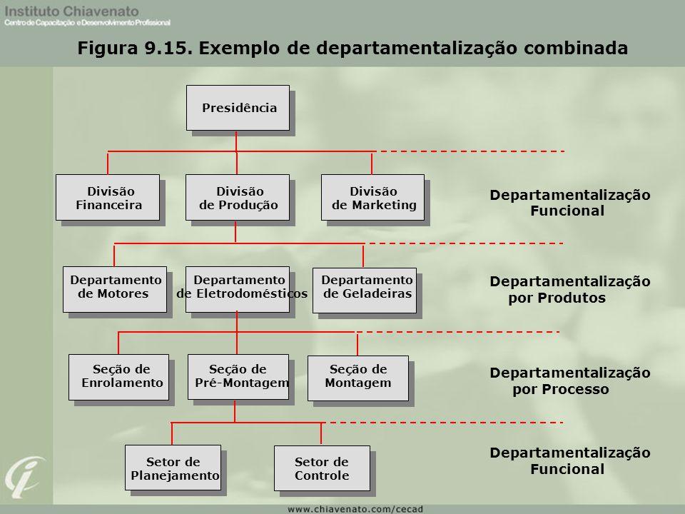 Figura 9.15. Exemplo de departamentalização combinada