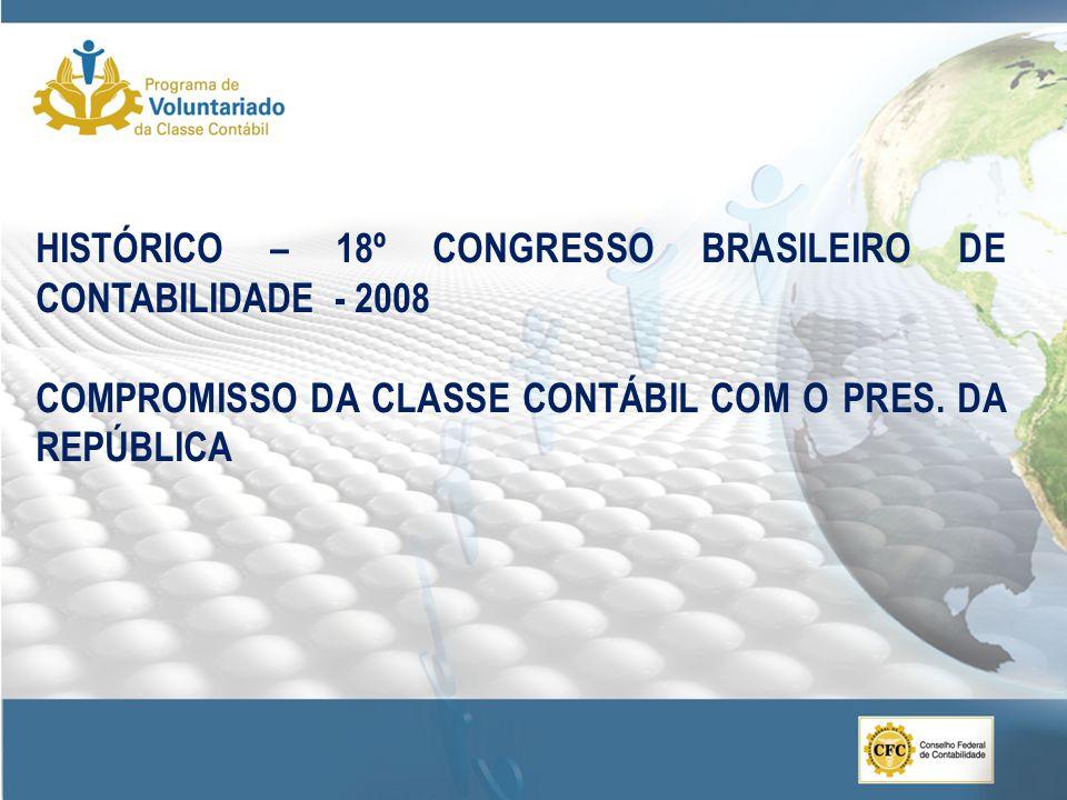HISTÓRICO – 18º CONGRESSO BRASILEIRO DE CONTABILIDADE - 2008