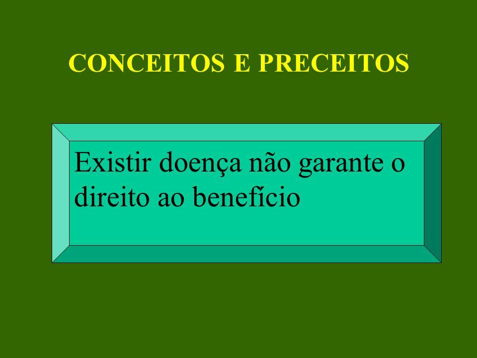 Existir doença não garante o direito ao benefício