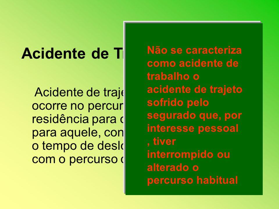 Não se caracteriza como acidente de trabalho o acidente de trajeto sofrido pelo segurado que, por interesse pessoal , tiver interrompido ou alterado o percurso habitual
