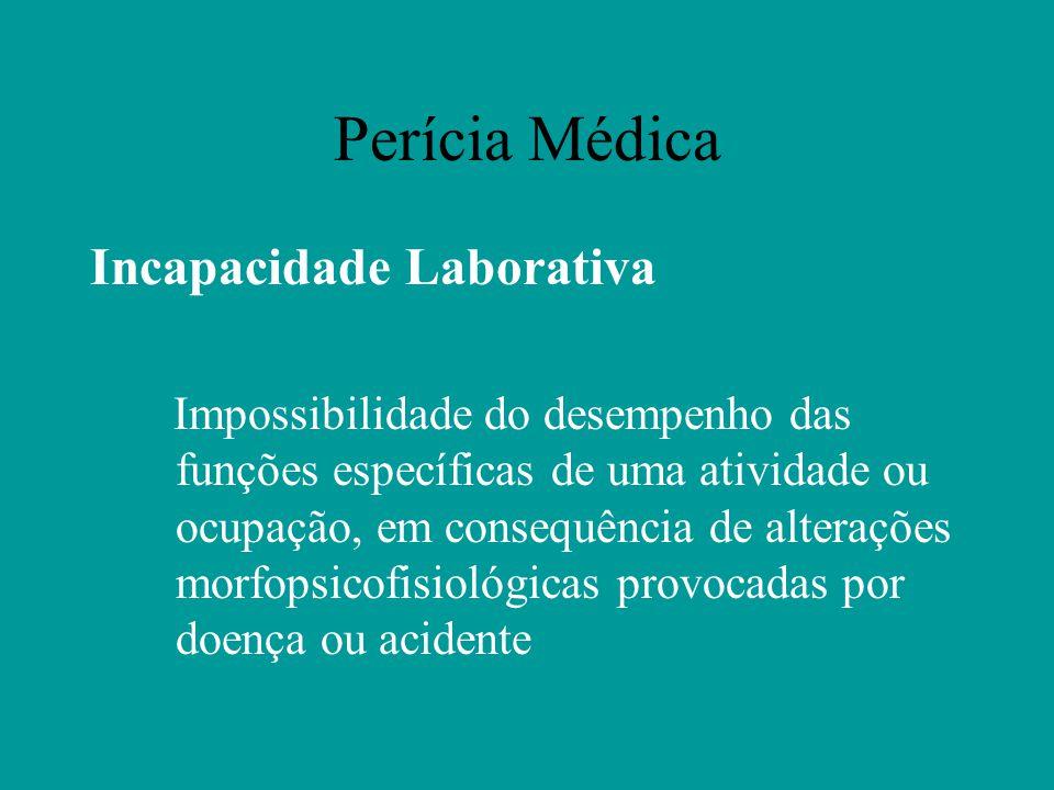 Perícia Médica Incapacidade Laborativa