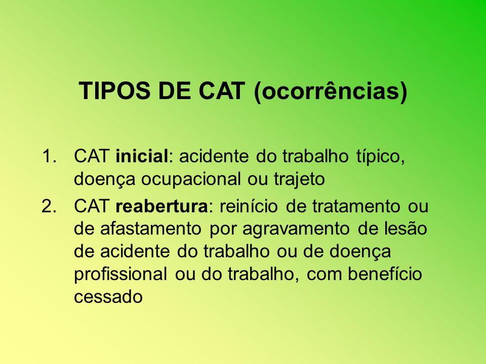 TIPOS DE CAT (ocorrências)