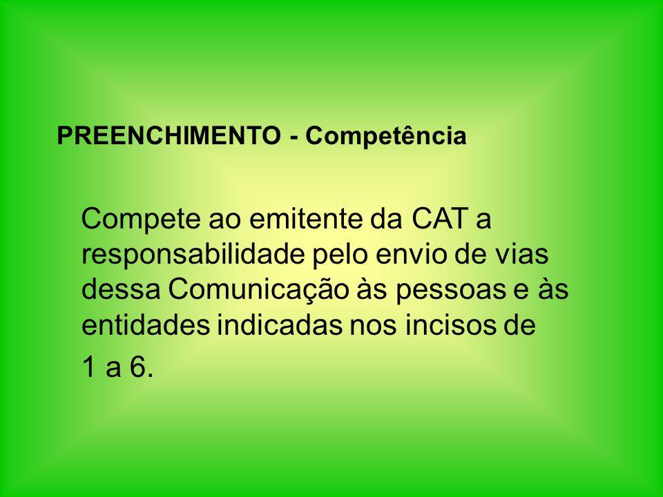 PREENCHIMENTO - Competência
