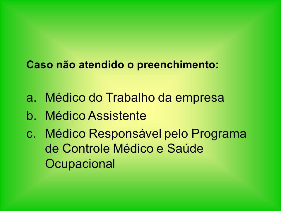 Médico do Trabalho da empresa Médico Assistente