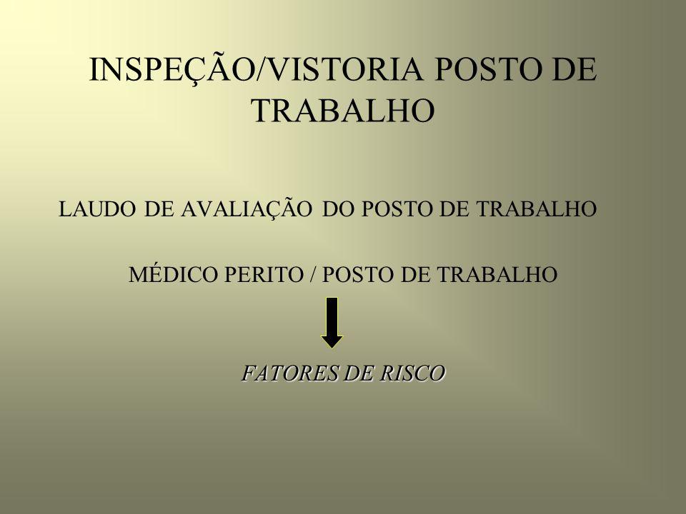 INSPEÇÃO/VISTORIA POSTO DE TRABALHO