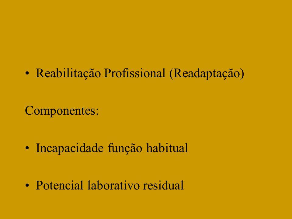 Reabilitação Profissional (Readaptação)