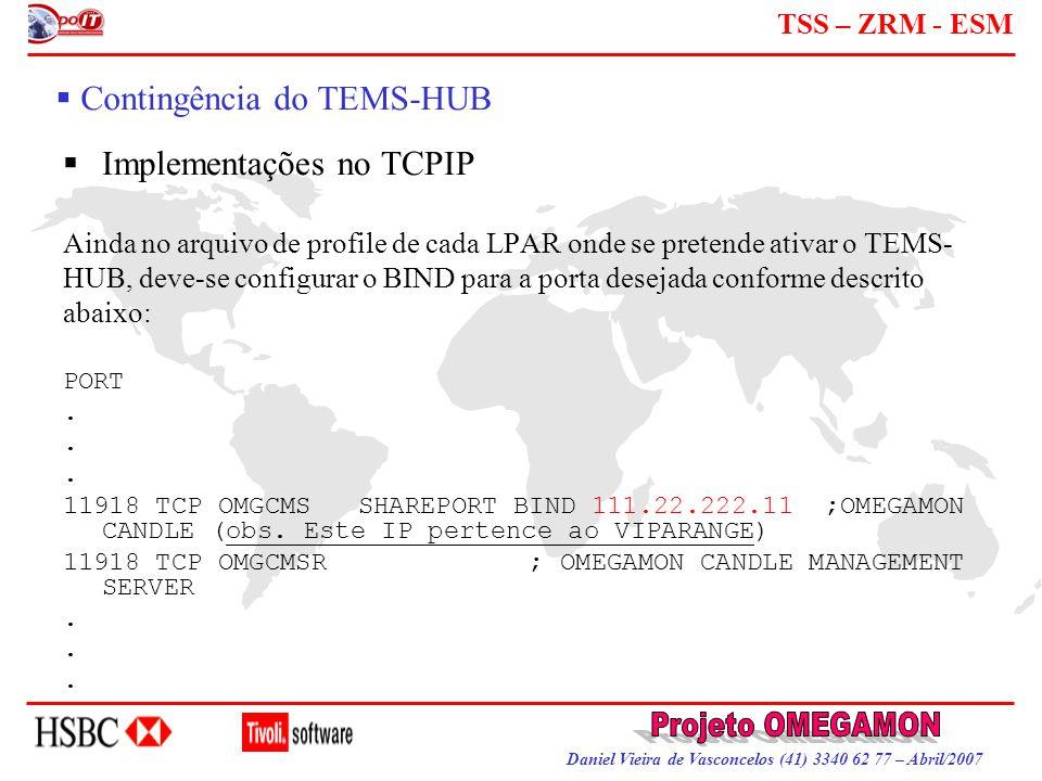 Contingência do TEMS-HUB
