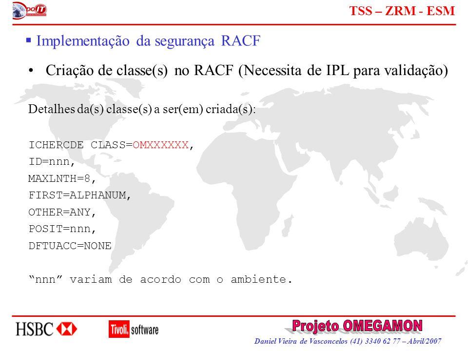 Implementação da segurança RACF