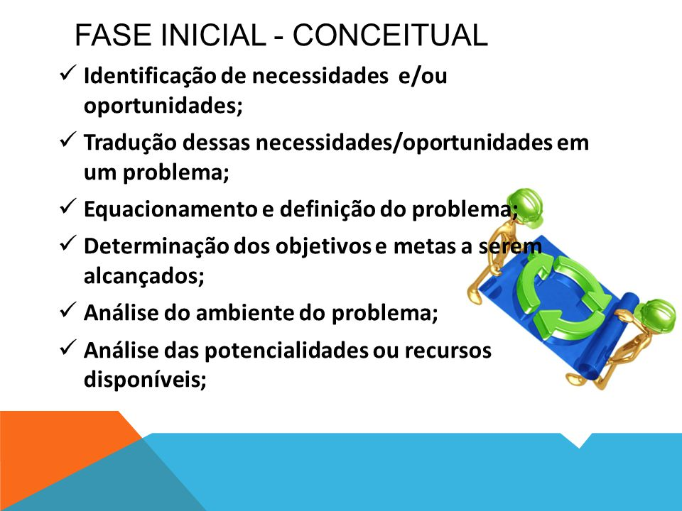 Fase inicial - Conceitual
