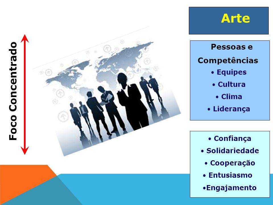 Foco Concentrado Arte Pessoas e Competências Equipes Cultura Clima