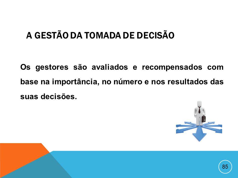 A GESTÃO DA TOMADA DE DECISÃO
