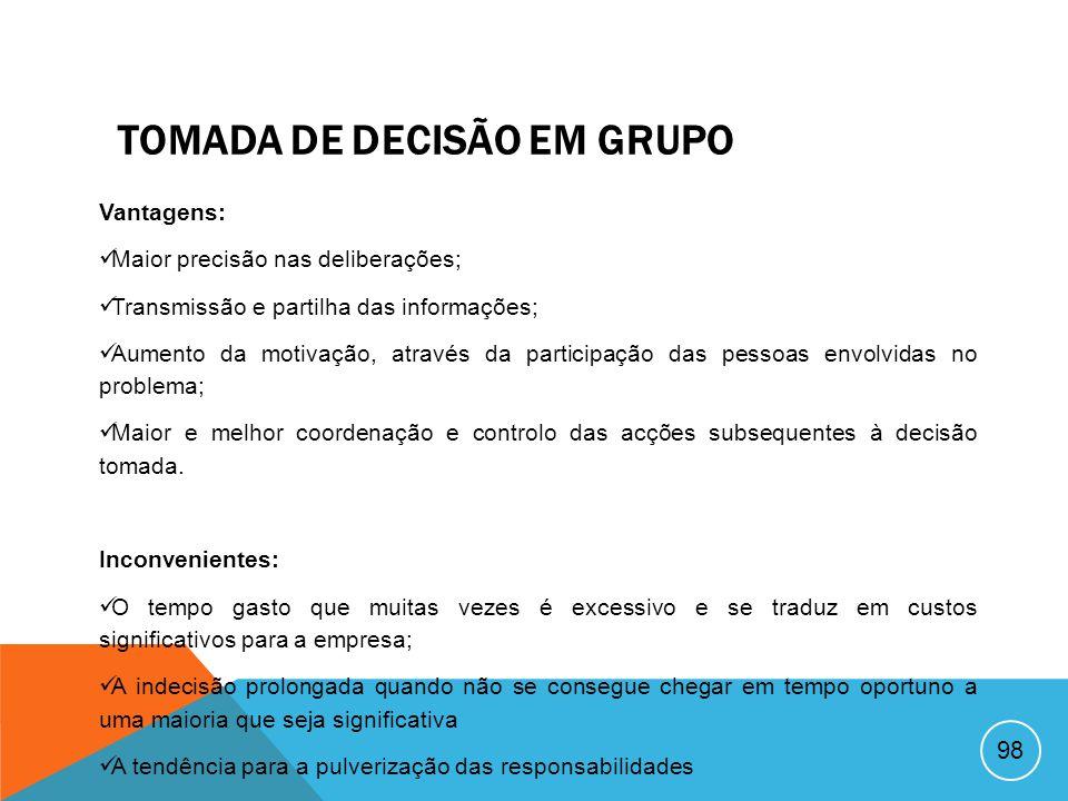 TOMADA DE DECISÃO EM GRUPO