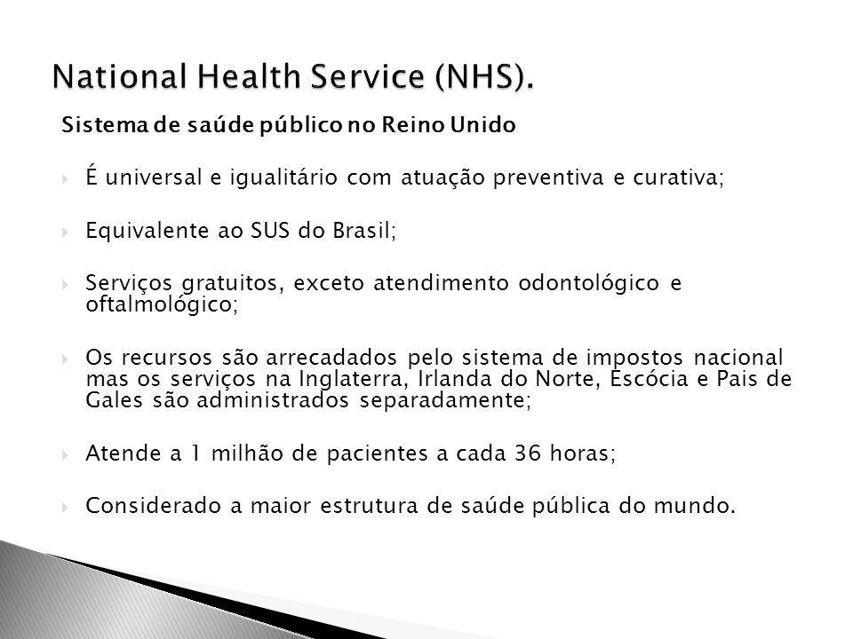 National Health Service (NHS).