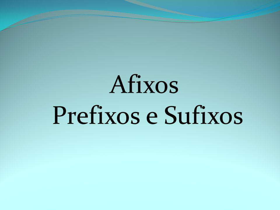 Afixos Prefixos e Sufixos Do you remember