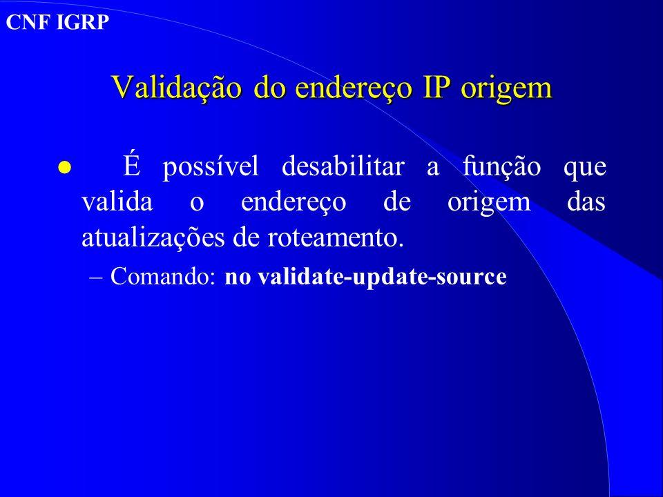 Validação do endereço IP origem