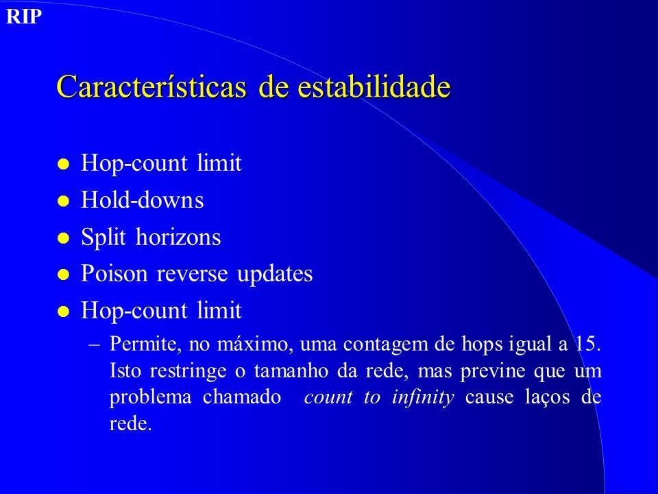 Características de estabilidade