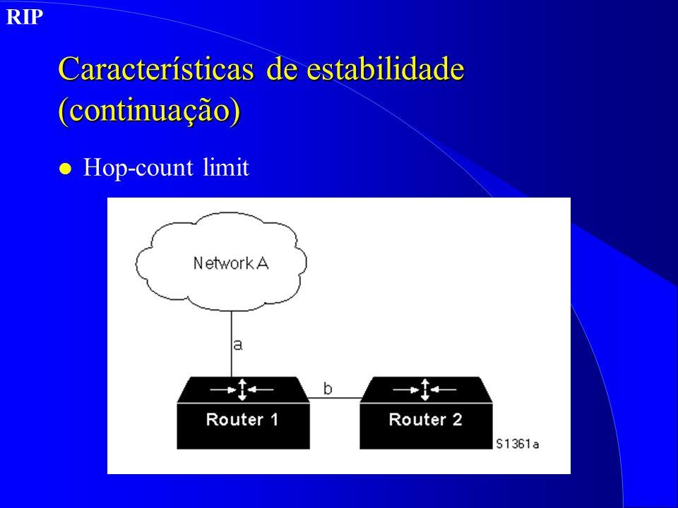 Características de estabilidade (continuação)