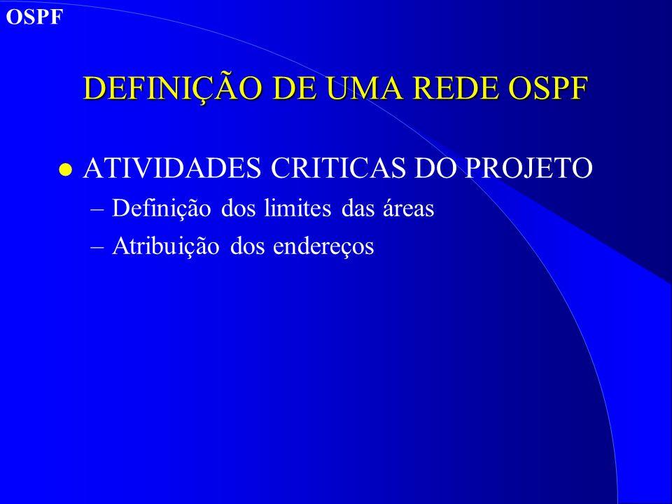 DEFINIÇÃO DE UMA REDE OSPF