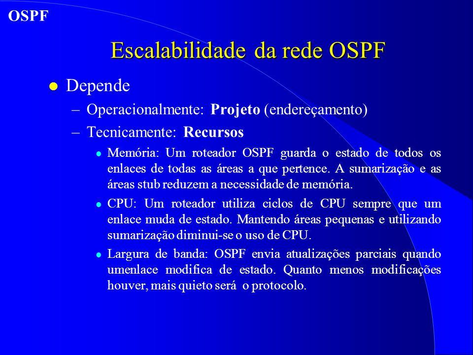 Escalabilidade da rede OSPF