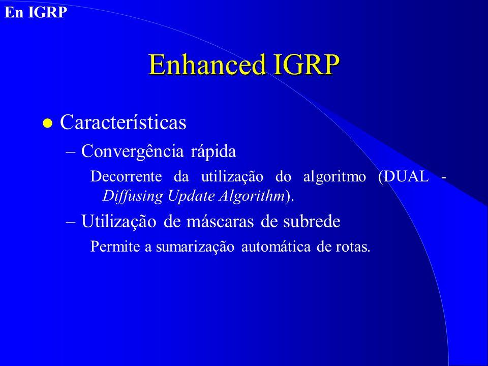 Enhanced IGRP Características Convergência rápida
