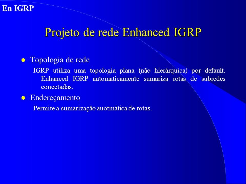 Projeto de rede Enhanced IGRP
