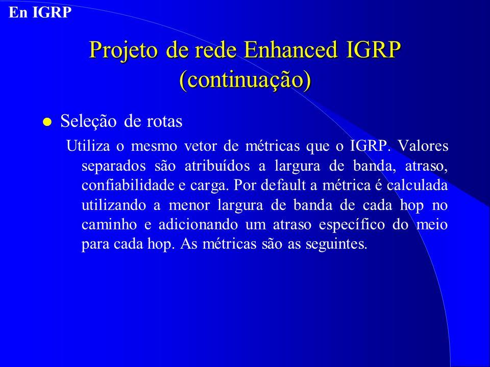 Projeto de rede Enhanced IGRP (continuação)