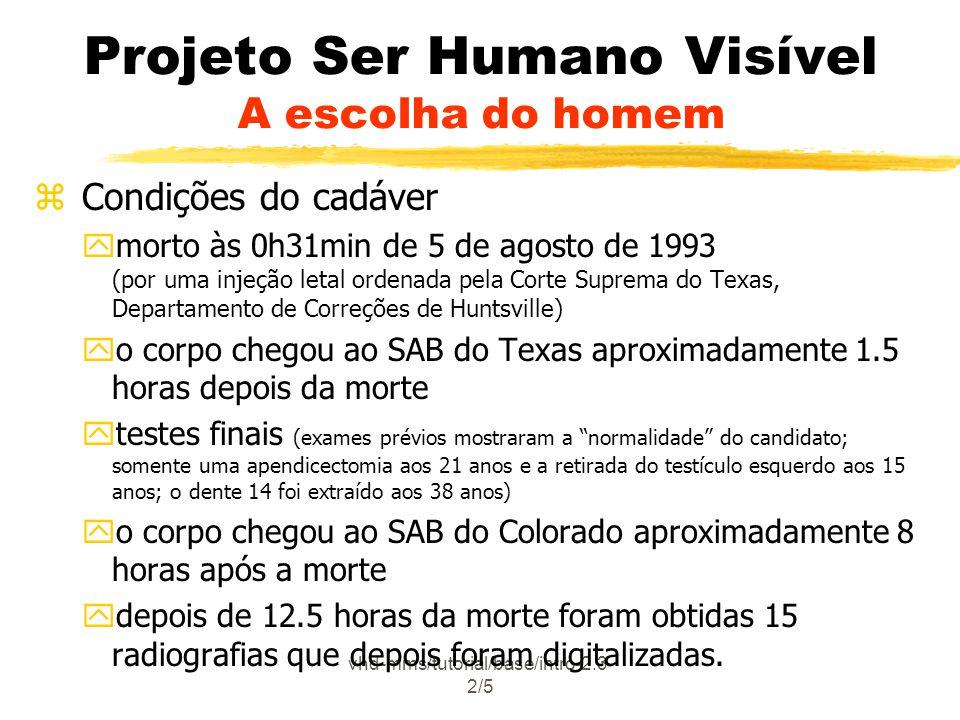 Projeto Ser Humano Visível A escolha do homem