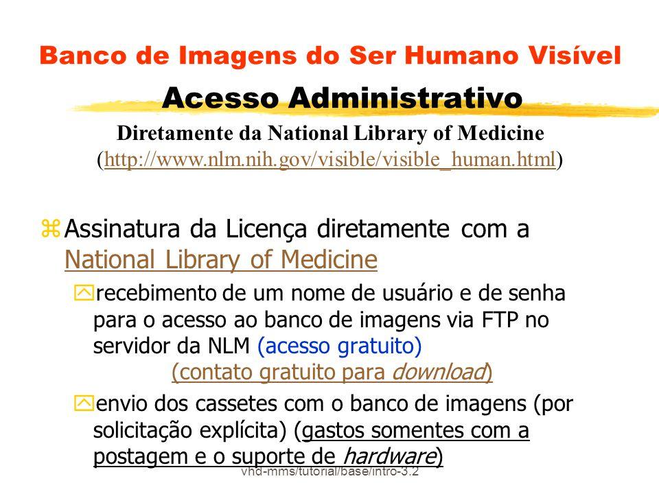 Banco de Imagens do Ser Humano Visível Acesso Administrativo