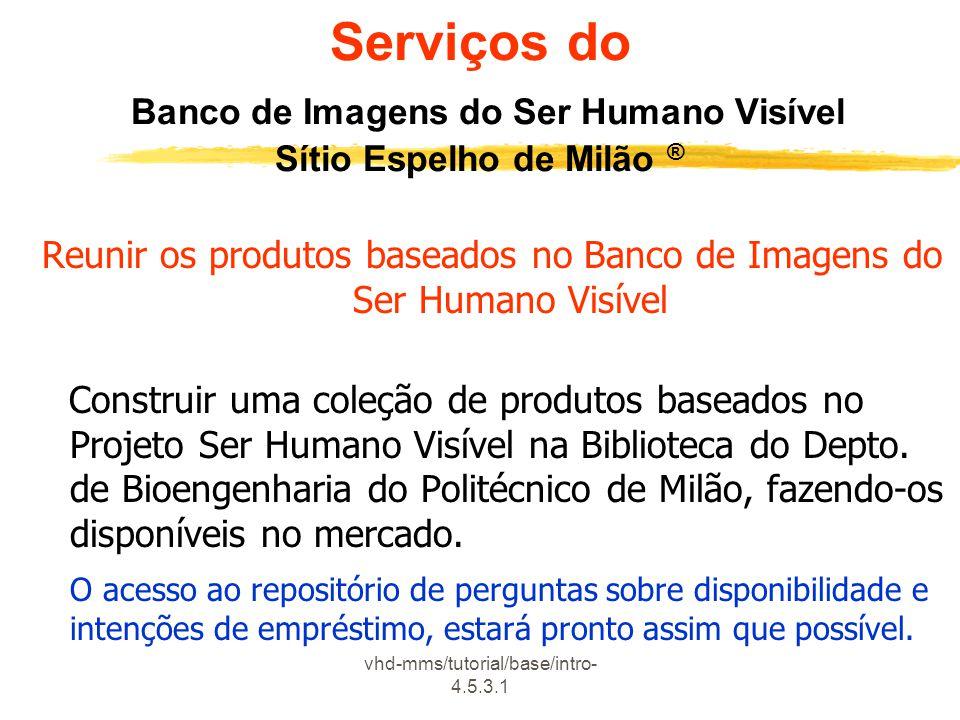 Serviços do Banco de Imagens do Ser Humano Visível Sítio Espelho de Milão ®