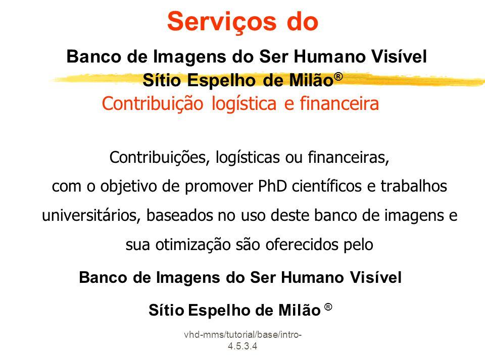 Banco de Imagens do Ser Humano Visível Sítio Espelho de Milão ®
